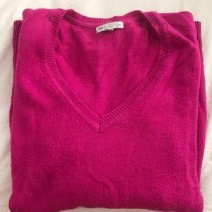 L/S magenta sweater